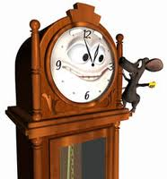 mouse ran up the clock