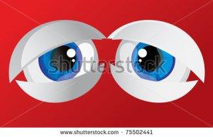 bulging eyes