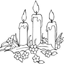 candle and flower.