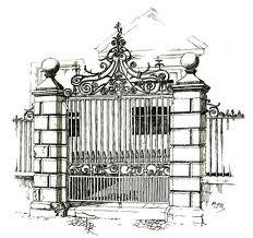 school gate.