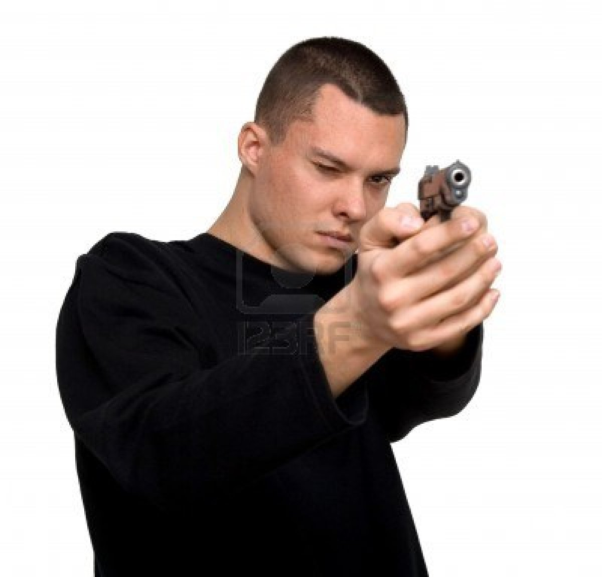 man with a gun – Mee...