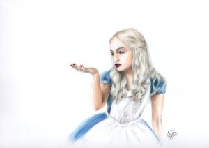 queen_alice___pencil_drawing_by_xasidas-d5s9m6o