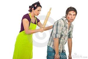 wife beats husband