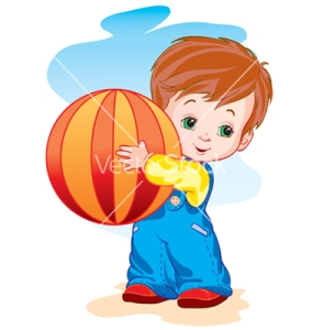 child-with-a-ball-vector-28192