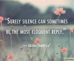 silence is great.