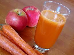 apple and carrot.