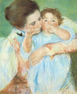 mother-and-child-against-a-green-background-mary-cassatt
