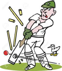 11118940-Vector-cartoon-of-cricketer-being-bowled-out--Stock-Vector-cricket-cartoon-ball