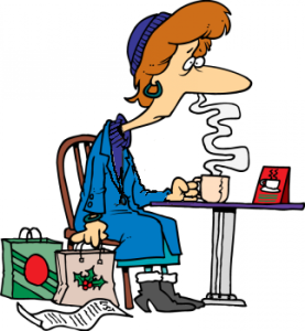 0511-1005-0201-0025_cartoon_of_a_woman_tired_out_from_christmas_shopping_clipart_image