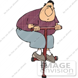 14964-chubby-man-on-a-pogo-stick-clipart-by-djart