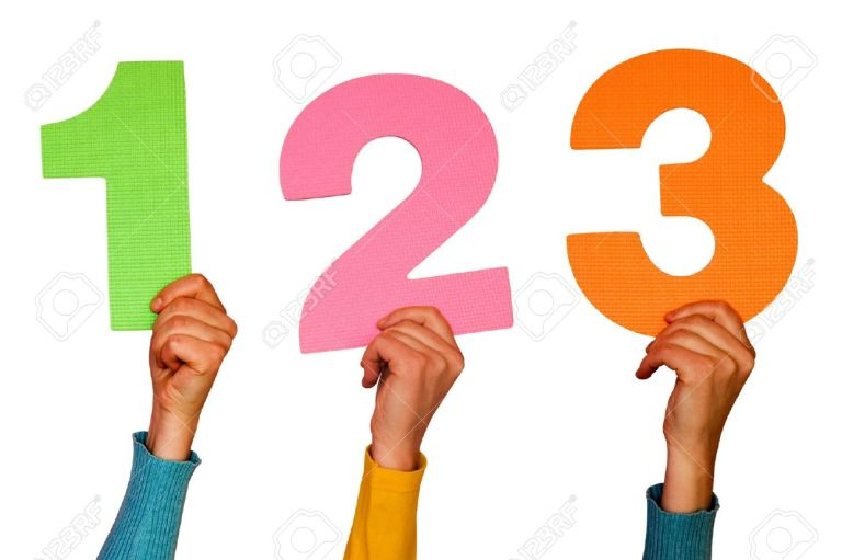 6238480-one-two-and-three-colorful-numbers-at-hands-Stock-Photo-number