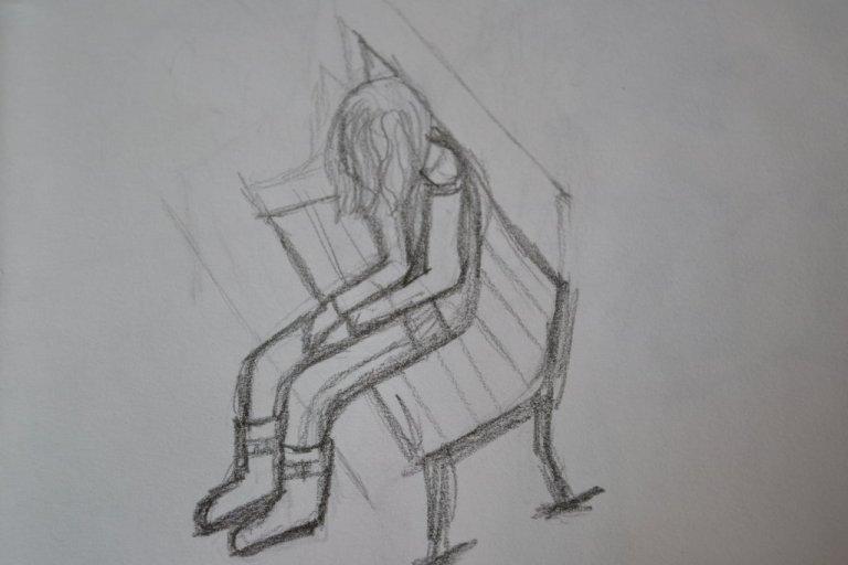 sketch_of_girl_sitting_alone_by_hawwyyy-d6a1y1c