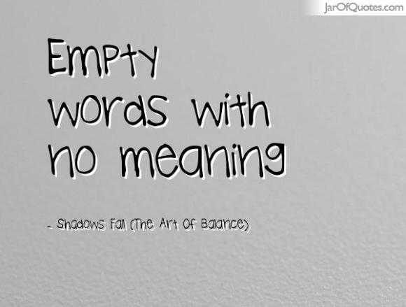 empty words