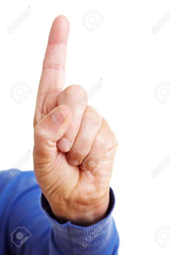 7752005-Admonition-with-shaking-index-finger-pointing-up-Stock-Photo